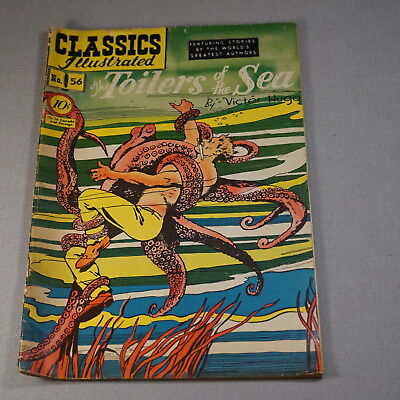 February 1949 Classics Illustrated Comic Book No. 56 The Toilers Of The Sea
