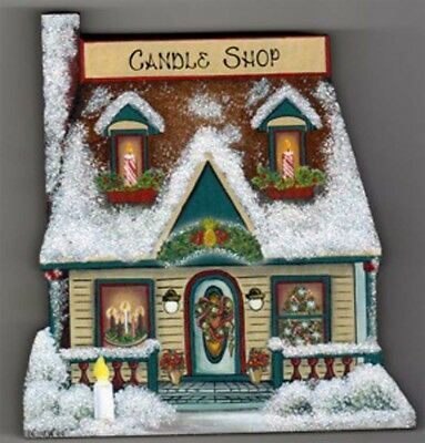 Brandywine CHRISTMAS Downtown Collection: CANDLE SHOP  Shelf Sitter