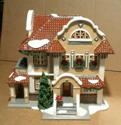 department 56 snow village - MISSION STYLE HOUSE - american architecture series