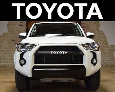 Super White TRD PRO Grill Vinyl Decals For 2015-2018 Toyota 4Runner New USA