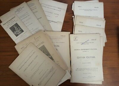 Collection of Agricultural Publications Re: Cotton Crops Dated from1890 - 1926