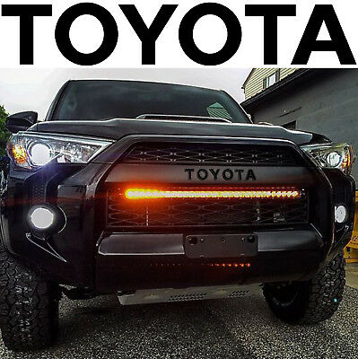 Gloss Black TRD PRO Grill Vinyl Decals For 2015-2018 Toyota 4Runner New USA