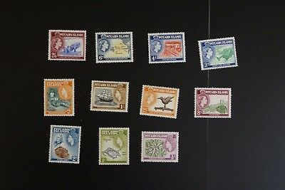 Pitcairn Islands #20-30 1957 F/VF mint hinged set cv$63.55 (v441)