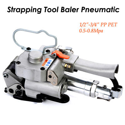 "13-19mm PP PET Pneumatic Strapping Tool Strap Baler fr 1/2""-3/4"" Bander Portable"