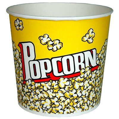 PARAGON  50 Count Popcorn Bucket - Tub - 85 Ounce - Home Theatre , Free Shipping