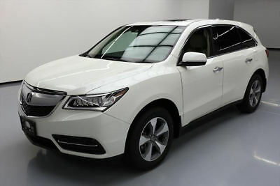 2016 Acura MDX Base Sport Utility 4-Door 2016 ACURA MDX 7-PASS HTD LEATHER SUNROOF REAR CAM 29K #012863 Texas Direct Auto