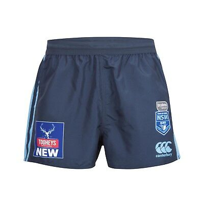 New South Wales Blues Origin CCC 2018 Replica On Field Shorts Sizes S-4XL