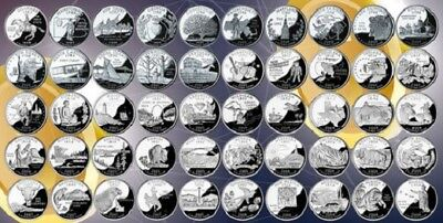 MINT UNCIRCULATED 1999-2008 US State Quarters Complete Collectible 50 coins Set