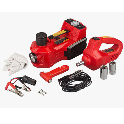 3Functions 150W 12V Electric Hydraulic Jack Impact Wrench and Air Compres Orange