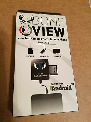 BoneView Trail Camera Viewer SD Card Reader for Android Phones, Micro USB