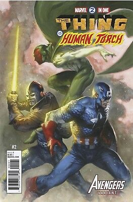 Marvel Two In One 2 Gabrielle Dell Otto Avengers Variant Nm Vision Capt America