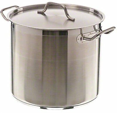 Update International SPS-20, 20 Quart, Stainless Steel Stock Pot with Cover New