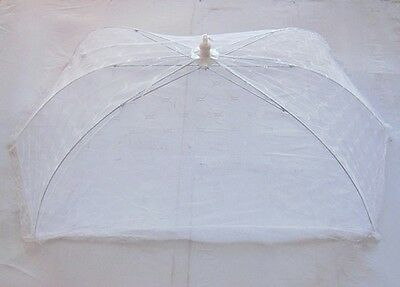 5 White Fold-away Food Cover Pulling Rope For Camper, Kitchen