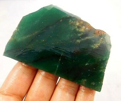355 Cts. 100% NATURAL GREEN JADE SLICE ROUGH LOOSE CABOCHON GEMSTONE (NB585)