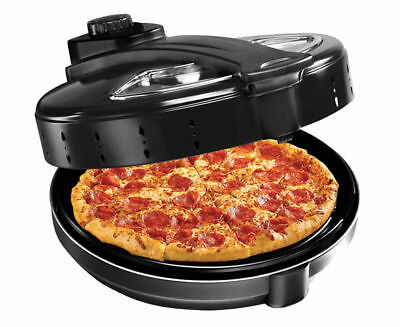 New Electric Pizza Maker Cooker Oven Baker Machine Large Rotating Nonstick Base