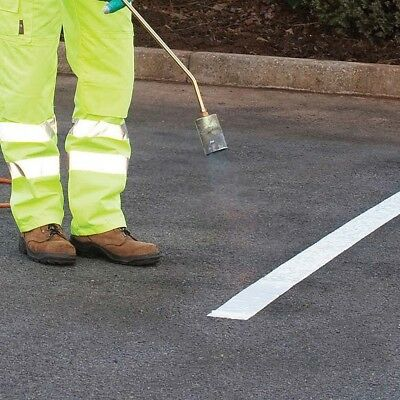 ROAD LINE MARKING TORCH-ON PARKING WHITE THERMOPLASTIC 50mm 75mm 100 mm