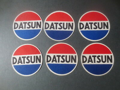"6 x 1960,s issue  DATSUN Advertising   COASTERS collectable "" MINT "" Condition"