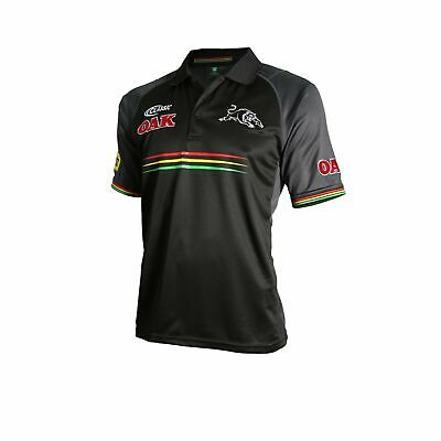 Penrith Panthers NRL 2018 Classic Players Black Media Polo Shirt Sizes S-5XL!