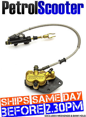 PitBike Dirtbike Rear HYDRAULIC FOOTBRAKE DISC CALLIPER 90cc 110cc 125cc 140cc
