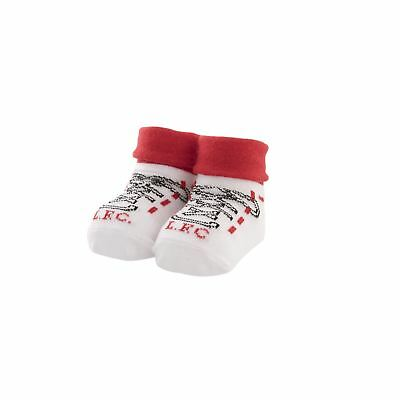 Liverpool FC LFC Baby White Red Rubber Non Slip Boot Socks Official