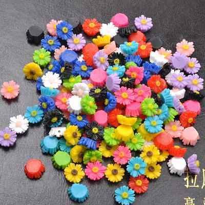 20pcs Mixed Colours Gorgeous Sunflower Coral Resin Spacer Beads 12MM