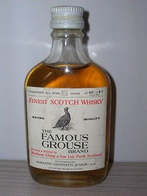 MINIATURA COLLECTION WHISKY FAMOUS GROUSE cl.4,7 gr.43