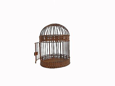 Craft Outlet Antique Rustic Wired Bird Cage, Multi-Colour, 8.5 x 10.5-Inch