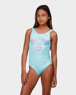 Bnwt Billabong Kids Girls Summer 2018 Get Down One Piece (12) Rrp $60 Aqua