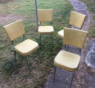 Set of retro vintage chairs lounge kitchen dinning Art Deco cafe coffee