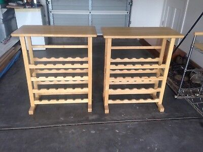 Two Timber Wine Racks.