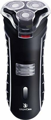 Electric Razor Men's Rechargeable Cordless Shaver Rounded Edges - 4 Directions