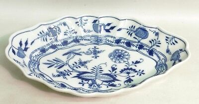 "Meissen Blue & White Onion Pattern Oval Dish ""1850-1924 Factory Mark"""