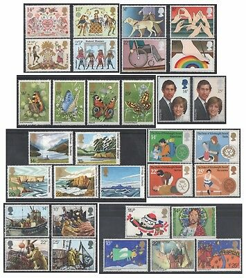 1981 Royal Mail Commemorative Sets MNH. Sold separately & as full year set.