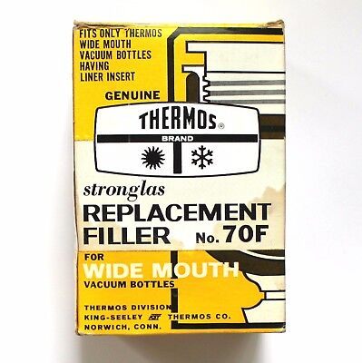 Thermos Stronglas Vacuum Bottle Replacement Filler No. 70F Wide Mouth Liner