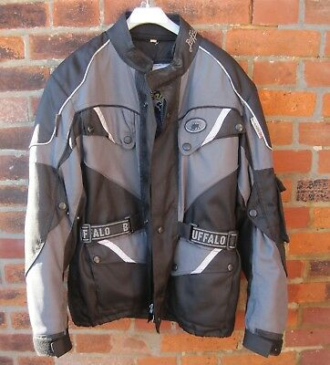 Buffalo Waterproof Breathable Grey Motorcycle Motorbike Jacket