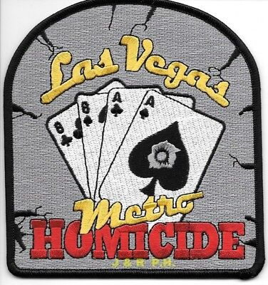 "Las Vegas Metro - Homicide, NV  (4.5"" x 5"" size) shoulder police patch (fire)"