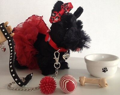 "Scotty Scottish Terrier Pet Dog for American Girl Doll 18"" Accessories SET"