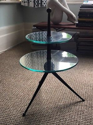 Midcentury Tripod Occasional Table Fontana Arte Era table d'appoint cesare lacca