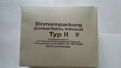 Einmannpackung Typ II Combat Ration, Individual EPA Bundeswehr NATO APPROVED