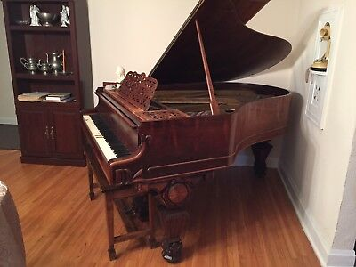 1880 Kranich and Bach Solid Rosewood Baby Grand Piano - Price Drop!