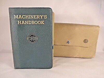 Machinery's Handbook 11th Edition 1942 w/ Leather Snap Case EXC!! Free Shipping!