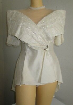 REDUCED Unbranded top only ivory dress Union made 9/10