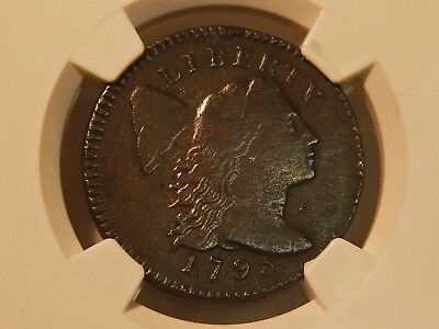 1795 Lettered Edge Flowing Hair Cent. NGC XF Details
