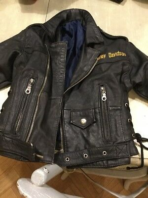 Kids Harley Davison Leather Jacket