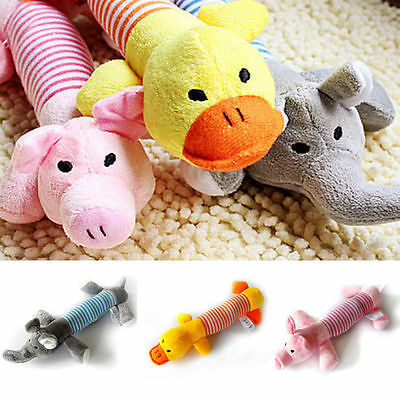 Pet Puppy Chew Squeaker Squeaky Plush Sound Pig Elephant Ball Dog Sound Toys E