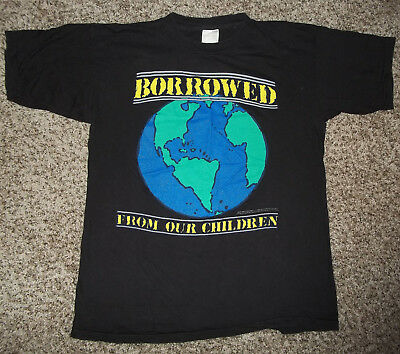 Vintage 1990 Earth Day T-Shirt Environment Outdoors Recycle Planet