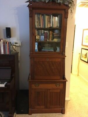Antique Walnut Secretary (Narrow-width)