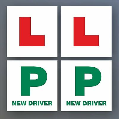 2x Learner Plates 2x P New Driver Sign Sticker Decal Legal Provisional Car Cheap