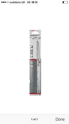 """Bosch S1531L Reciprocating Saw Blades, Top For Wood. 240mm / 10"""". Pack Of 5."""