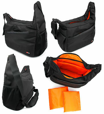 Durable Shoulder Bag in Black & Orange for USCAMEL HD Binoculars 10x50